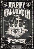 Rocznika Blackboard dla Halloween przyjęcia Zdjęcia Royalty Free