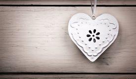 Rocznika blaszany serce zdjęcie royalty free