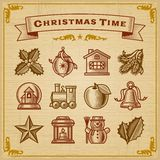Rocznika Bożych Narodzeń Dekoracje Zdjęcia Royalty Free