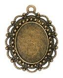 Rocznika brązowy breloczek zdjęcie stock