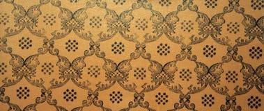 Rocznika brązu adamaszka bezszwowy deseniowy tło Zdjęcia Stock