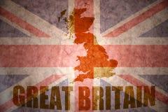 Rocznika Britain wielka mapa zdjęcie royalty free