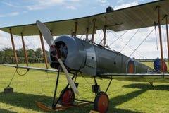 Rocznika Brytyjski stażowy samolot Avro 504K 1918 obraz stock