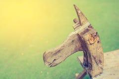 rocznika brzmienia konia drewniana zabawka Fotografia Stock