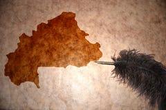 Rocznika burkina faso mapa Zdjęcia Royalty Free