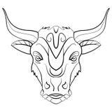 Rocznika byka tatuażu atramentu nakreślenie Fotografia Stock
