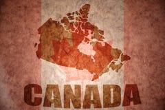 Rocznika Canada mapa Obrazy Royalty Free