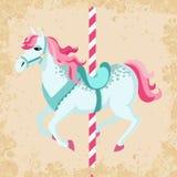 Rocznika carousel koń ilustracja wektor
