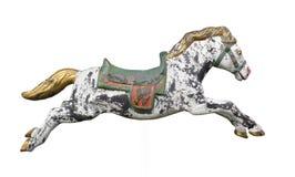 Rocznika carousel koń odizolowywający. Obrazy Stock