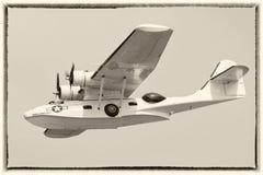 Rocznika Catalina latająca łódź Fotografia Royalty Free