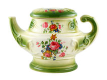 Rocznika ceramiczny herbaciany garnek fotografia stock