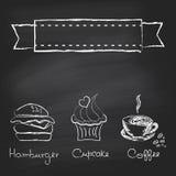 Rocznika chalkboard menu Obraz Royalty Free