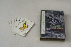 Rocznika chińczyka karta do gry Zdjęcie Stock