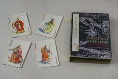 Rocznika chińczyka karta do gry Zdjęcia Stock