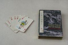 Rocznika chińczyka karta do gry Zdjęcie Royalty Free