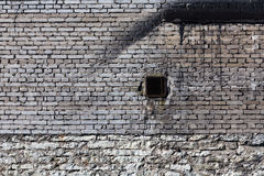Rocznika ściana z cegieł z wentylacją Zdjęcia Royalty Free