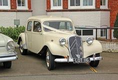 Rocznika Citroen ślubny samochód Zdjęcie Royalty Free