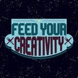 Rocznika colorfull motywacyjny logotyp Fotografia Royalty Free