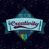 Rocznika colorfull motywacyjny logotyp Zdjęcia Royalty Free