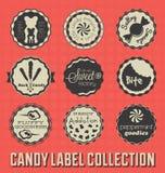 Rocznika cukierku ikony i etykietki Obraz Royalty Free