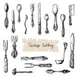 Rocznika cutlery royalty ilustracja