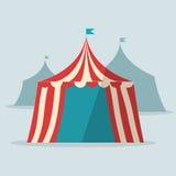 Rocznika cyrkowego namiotu płaski projekt Obrazy Stock