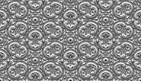 Rocznika czarny i biały wzór Zdjęcia Royalty Free