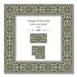 Rocznika 3D ramy 205 zieleni Koronkowa spirala Obrazy Royalty Free