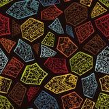 Rocznika dekoracyjna ręka rysujący tło z islamu, języka arabskiego lub indianina motywami, Zdjęcia Royalty Free