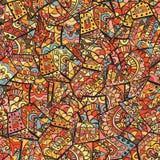 Rocznika dekoracyjna ręka rysujący tło z islamu, języka arabskiego lub indianina motywami, Zdjęcie Royalty Free