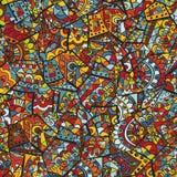 Rocznika dekoracyjna ręka rysujący tło z islamu, języka arabskiego lub indianina motywami, Obraz Stock