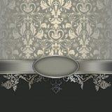 Rocznika dekoracyjny tło z eleganckimi wzorami Obraz Stock