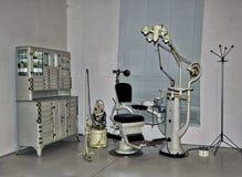 Rocznika dentysty krzesło fotografia royalty free