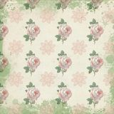 Rocznika Digital papieru tła tekstura Digital papier - Podławych Modnych chałup róż Ornamentacyjny druk - ilustracji