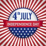 Rocznika dnia niepodległości odznaka, plakat/ Obraz Royalty Free