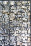 Rocznika dokonanego żelaza grille i kamienna antyczna ściana jako tło lub tło Obraz Stock
