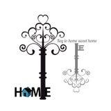 Rocznika domowego klucza ikona Obraz Stock