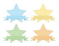 Rocznika drelich projektujący set gwiazdy Obrazy Stock