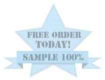 Rocznika drelichu gwiazdy odznaka Obraz Royalty Free