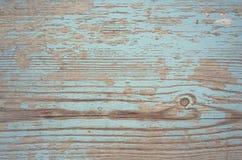 Rocznika drewna deski krakingowa błękitna farba Obraz Stock
