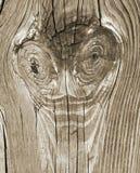 Rocznika drewna deski tła Śmieszna twarz Obraz Stock