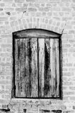 Rocznika drewna okno Zdjęcia Royalty Free