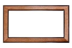 Rocznika drewniana rama odizolowywająca na biały tle Fotografia Royalty Free