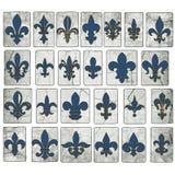 Rocznika Drewnianego Fleur De Lis Kolekcja Nowy Orlean ulicy płytki Fotografia Royalty Free