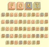 Rocznika drewnianego letterpress bloków wektoru drukowa ilustracja Fotografia Stock