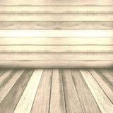 Rocznika drewnianego panelu ścienny i podłogowy wewnętrzny tło Obrazy Royalty Free