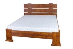 Rocznika drewniany łóżko Zdjęcia Stock