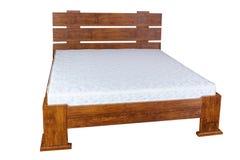 Rocznika drewniany łóżko Zdjęcie Stock