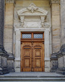 Rocznika drewniany drzwi, Drezdeński, Niemcy Obrazy Royalty Free