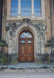 Rocznika drewniany drzwi, Drezdeński, Saxony Niemcy Obrazy Royalty Free